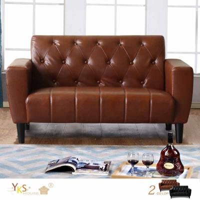 YKSHOUSE 奧斯汀兩人座美式復古沙發(兩色可選)