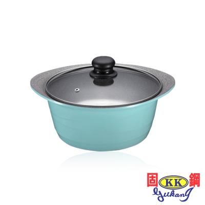 固鋼 皇室藍鈦石不沾湯鍋24cm(附蓋)