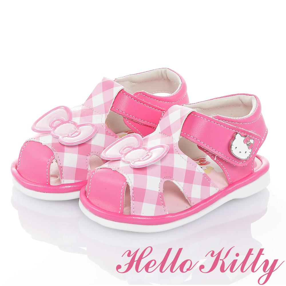 HelloKitty好朋友系列 輕量減壓吸震嗶嗶學步涼鞋童鞋-桃