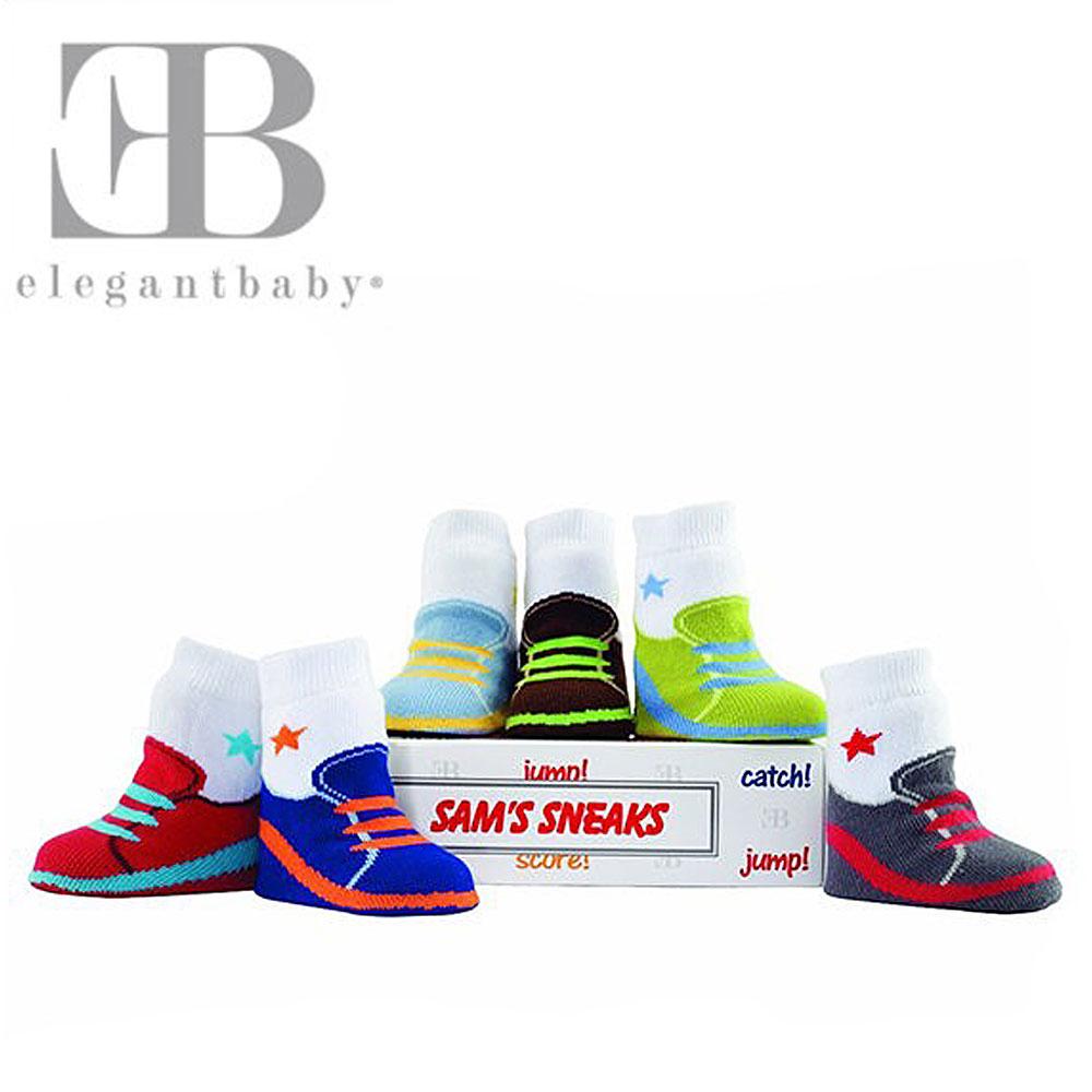 Elegant Baby 6入襪子禮盒-繽紛球鞋