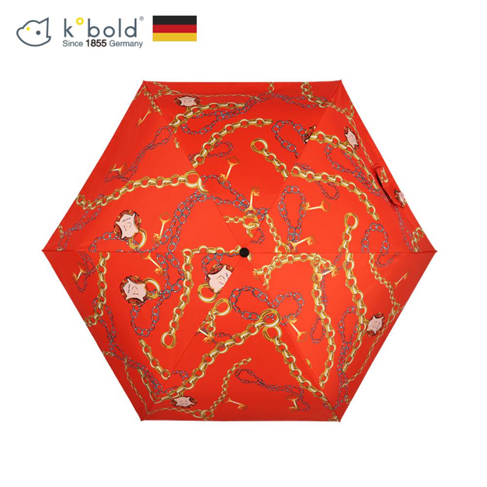 德國kobold酷波德 蘑菇頭系列-6K超輕巧抗UV五折傘-艾瑪橙
