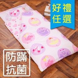 鴻宇 防蟎抗菌 可機洗被胎 兒童冬夏兩用睡袋 美國棉 精梳棉 夢幻公主