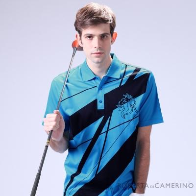 ROBERTA諾貝達 光滑柔軟 純PIMA棉休閒短袖POLO棉衫 藍