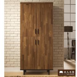 日本直人木業傢俱-工業生活80CM高鞋櫃-(80x40x178cm)免組