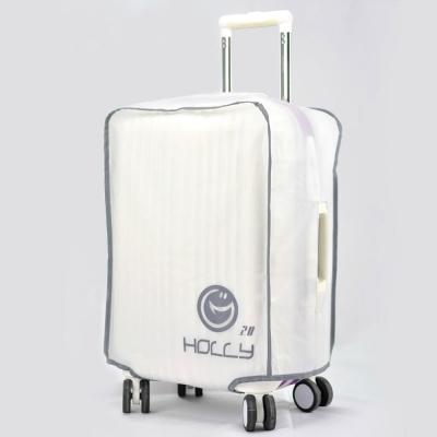 PUSH! 旅遊用品 ABS.PC行李箱專用防水保護套防塵套透明白
