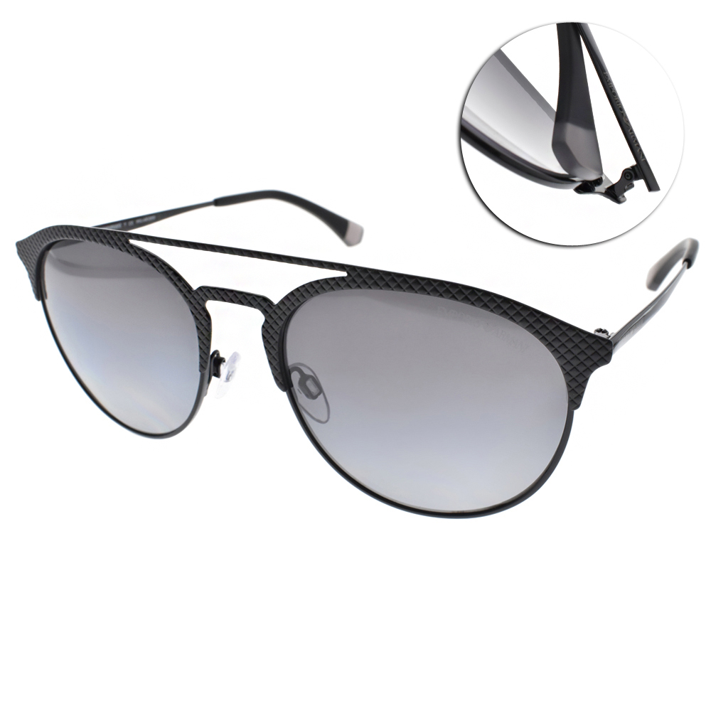 EMPORIO ARMANI偏光太陽眼鏡 率性時尚/黑#EA2052 3014T3