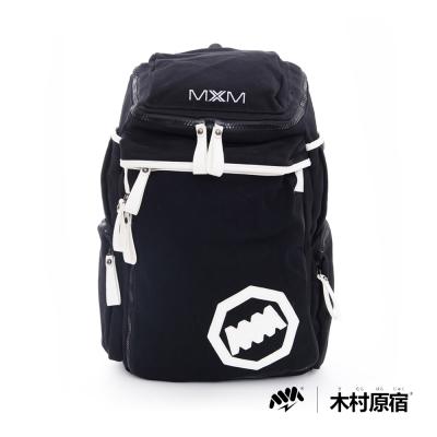 木村原宿-MM日系潮包-型袋防震墊後背包-黑白