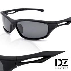 DZ 急速先鋒 抗UV 偏光太陽眼鏡墨鏡(黑框灰片)