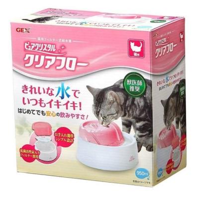 GEX 愛貓 圓滿平安飲水器《粉紅》950ml