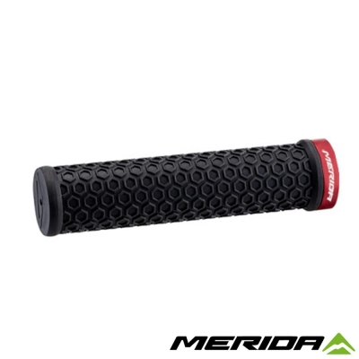 《MERIDA》美利達 自行車握把 黑/紅 2058034073