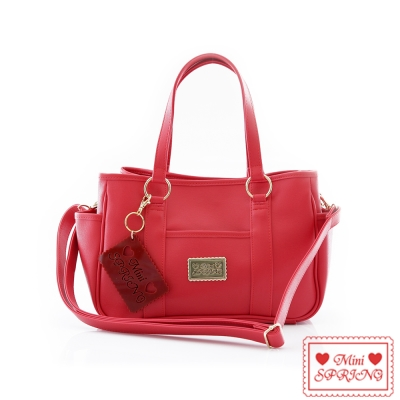 SPRING-經典法式餅乾LovE9-2way購物包-小-Red櫻桃巧克力