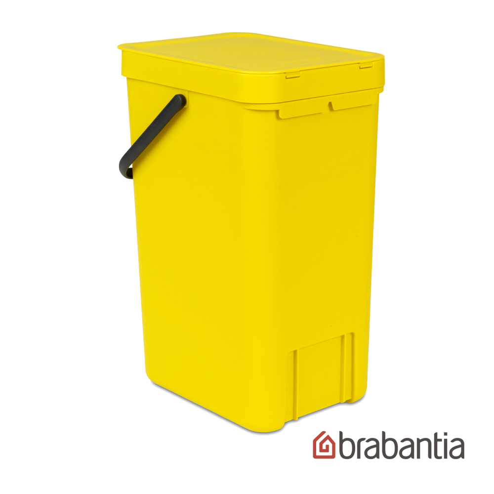 Brabantia 多功能餐廚廚餘桶16L-黃