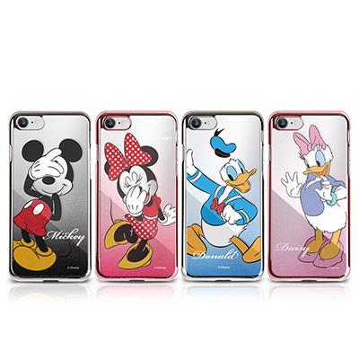 OpenBox iPhone 7 迪士尼金屬質感鏡面手機保護殼