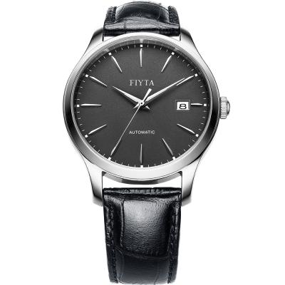 FIYTA飛亞達 經典系列復古機械錶款(WGA1010.WHB)-黑色/40mm