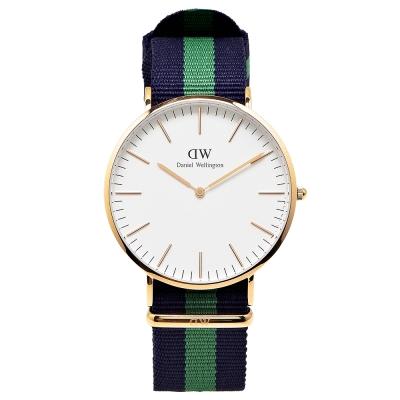 DW Daniel Wellington 經典Warwick 腕錶-白/金/40mm