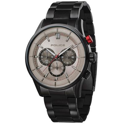 POLICE  追憶迴路時尚計時腕錶-15001JSU-13M/45mm