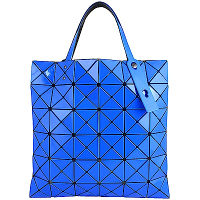 ISSEY MIYAKE 三宅一生BAOBAO 雙色軟質方格6x6手提包(藍/深藍)