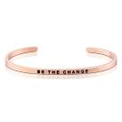 MANTRABAND Be The Change 成為更好的自己 悄悄話玫瑰金手環