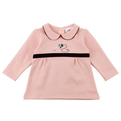 愛的世界 pappa&ciccia 彈性半開襟長袖上衣/1~3歲