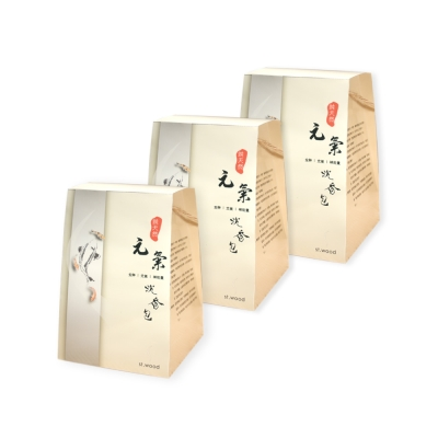 ST-wood聖沉香-元氣沉香包-三入組