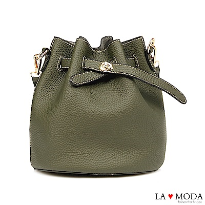 La Moda 輕鬆出遊去~小巧多Way肩背斜背水桶包(綠)