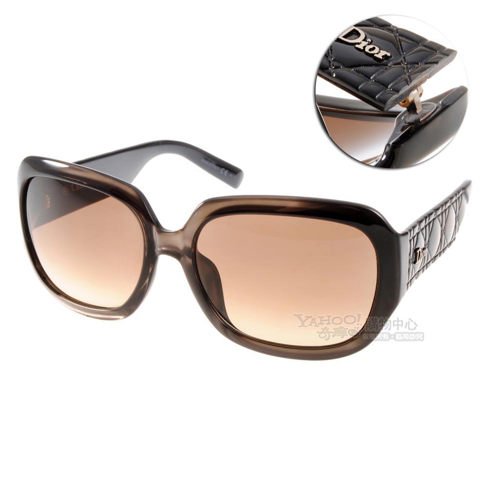 DIOR太陽眼鏡 仿皮革壓紋系列/香檳黑#MYDIOR DUI