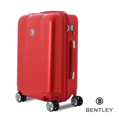 BENTLEY賓利 28吋 PC+ABS 碳纖維拉鍊款輕量行李箱 -紅