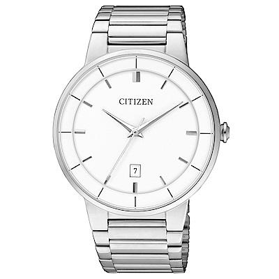 CITIZEN星辰 簡潔設計時尚腕錶(BI5010-59A)-白/40mm