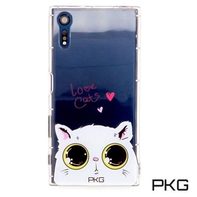 PKG SONY XZ / XZS 空壓氣墊保護殼(時尚彩繪)娃娃貓