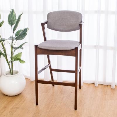Boden-莫理斯實木吧台椅/吧檯椅/高腳椅(高)(二入組合)52x62x108cm
