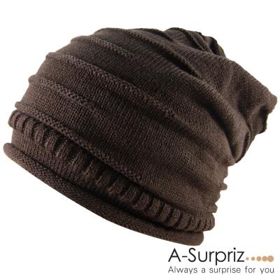 A-Surpriz 雅痞簡約時尚風針織帽(品位咖)