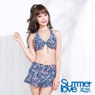 夏之戀SUMMER LOVE 變形蟲比基尼三件式泳衣