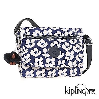 Kipling 斜背包 夏日時光花卉印花-小