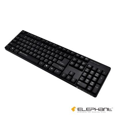 ELEPHANT 經典重現 防水抗指紋有線鍵盤(KE 011 )