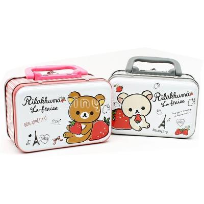日本拉拉熊手提小鐵盒