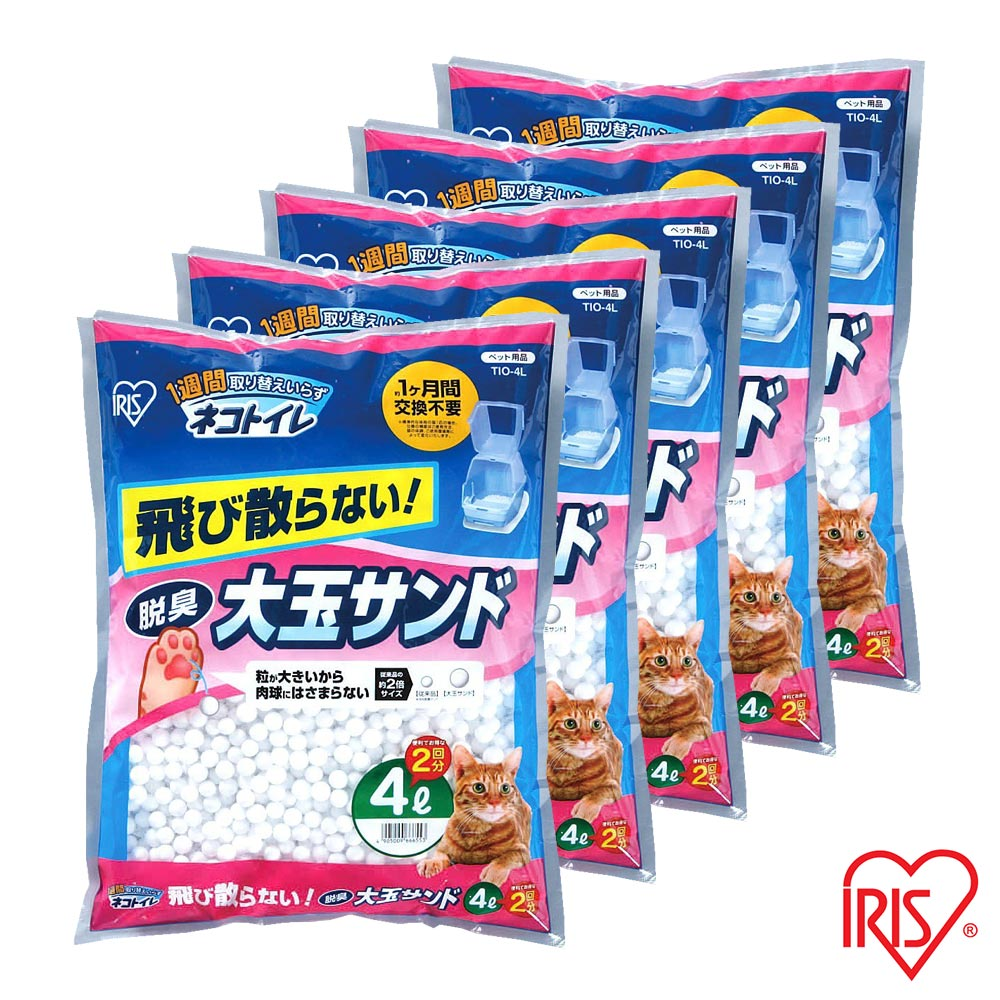 日本IRIS 大玉脫臭貓砂 (TIO-4L) - 4L X 5包入