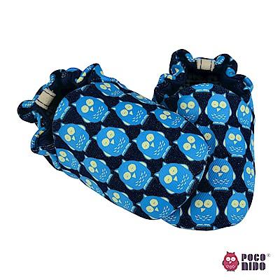 英國 POCONIDO 手工嬰兒鞋 (丹寧貓頭鷹)