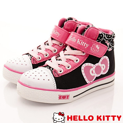 HelloKitty童鞋 晶鑽短筒靴 16366 黑 (中童)T#17