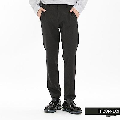 H:CONNECT 韓國品牌 男裝-細緻混色男長褲-黑