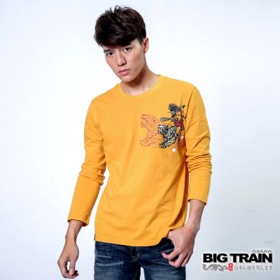 BIG TRAIN 惡虎青鬼印花TEE-男-銘黃