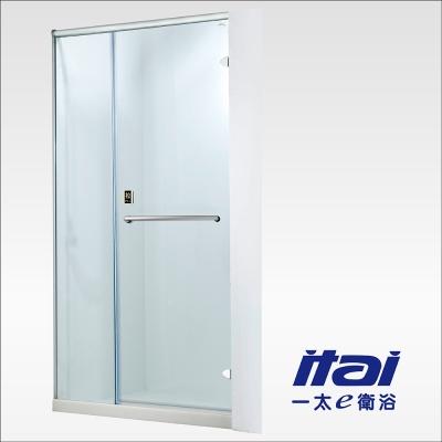 一太淋浴門-無框一字型防爆淋浴門(寬121~130cm x 高200cm範圍以內)