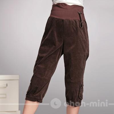 【ohoh-mini】俏皮媽咪七分綁帶孕婦褲