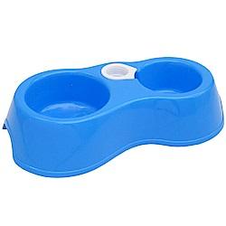 月陽環保PP5材質中小型寵物貓狗雙碗式寵物碗附自動給水(26515)