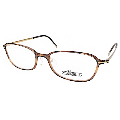 Silhouette詩樂眼鏡 輕盈小框款/玳瑁-金#ST1554 C6051