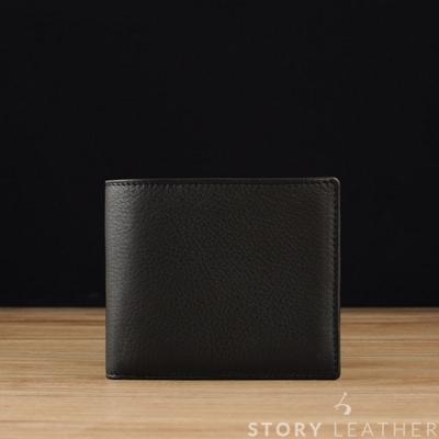 STORY皮套王- 牛皮短夾 Style 00163 苯染牛皮Napa黑 限量現貨