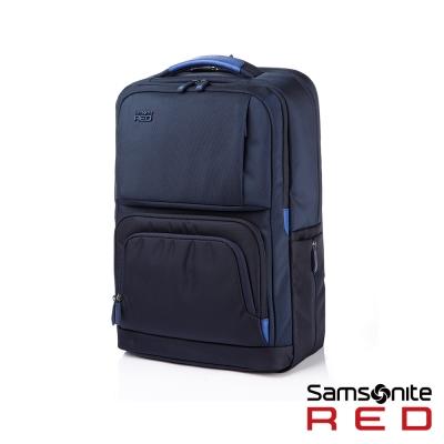 Samsonite-RED-EGERTON超大容量點綴色塊後背包L-15-6吋-海軍藍