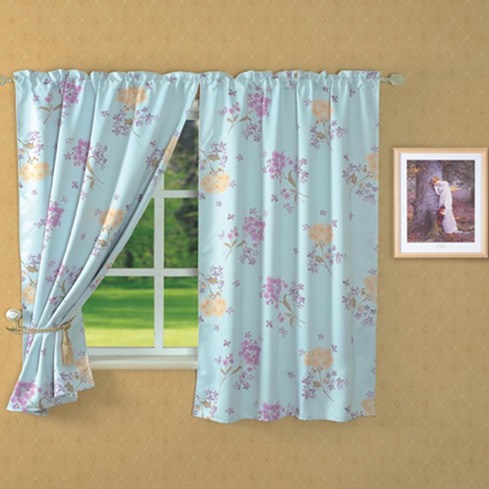 紫羅蘭遮光窗簾(無紗)