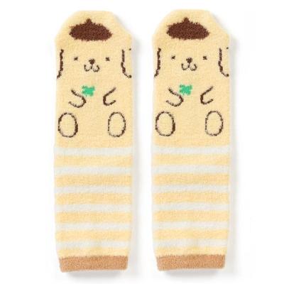 Sanrio 布丁狗盒裝Fluffy中筒保暖襪(條紋幸運草)
