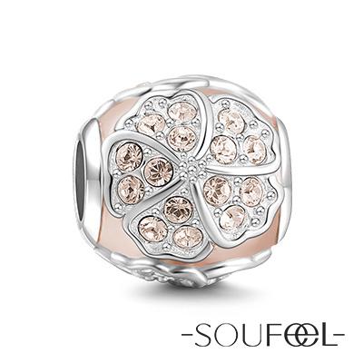 SOUFEEL索菲爾 925純銀珠飾 四葉草 串珠