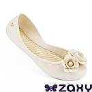Zaxy 巴西 女 浪漫花季平底娃娃鞋-米色